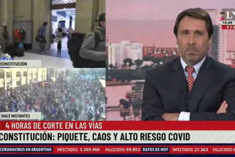 """Eduardo Feinmann calificó a lo sucedido en Constitución como """"la clandestina del Estado y Sabina Frederic"""""""
