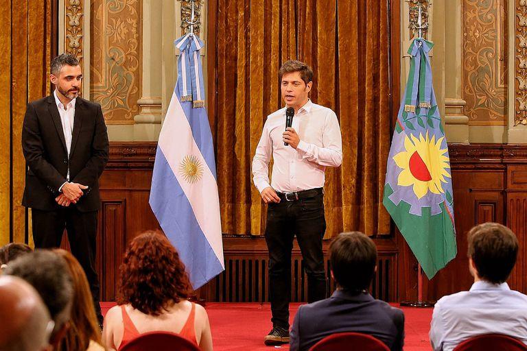 El gobernador Kicillof al poner en funciones al nuevo titular de ARBA, Cristian Girard