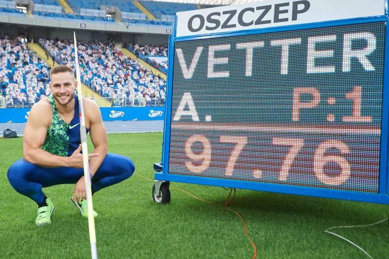 Johannes Vetter, el alemán que logró el segundo mejor lanzamiento de jabalina de la historia con 97,76 metros
