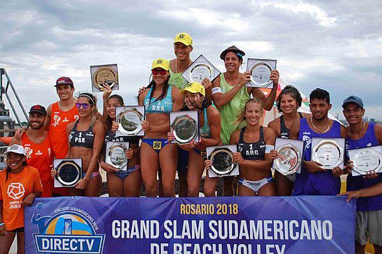 Beach Volley: Brasil se quedó con los dos títulos del Grand Slam de Rosario
