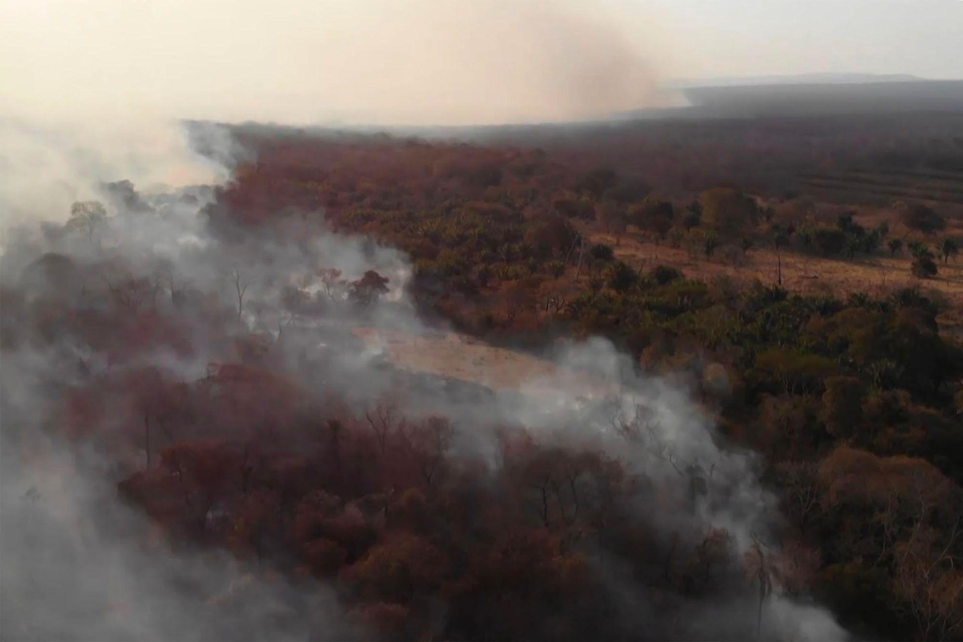 Los incendios abarcan grandes zonas de Bolivia, Brasil y Perú
