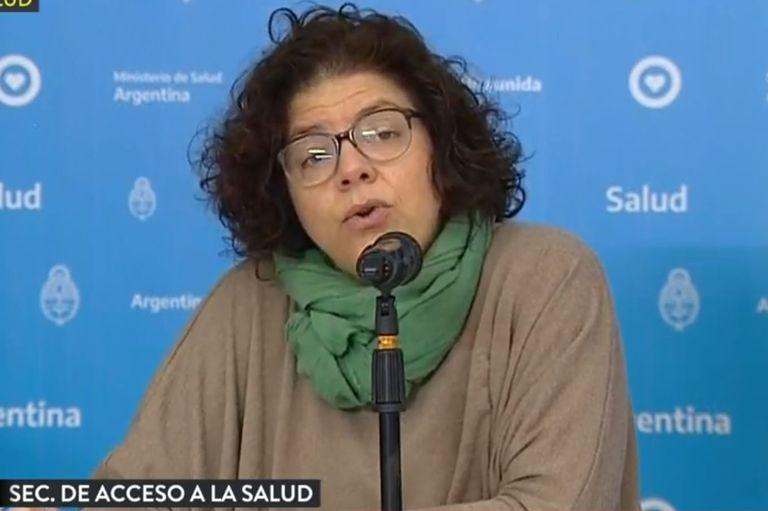 Carla Vizzoti , secretaría de Acceso a la Salud del Ministerio de Salud de la Nación