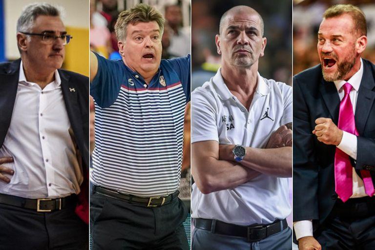 Lamas, Duró, Hernández y García, el cuarteto de entrenadores argentinos que dirige en el Mundial de China.