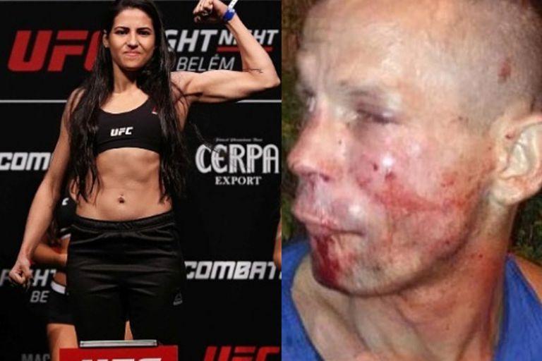 Pretendió robarle a una luchadora de UFC y fue reducido a los golpes por ella