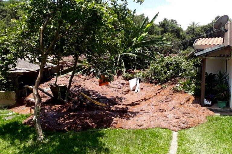 Los destrozos en la localidad de Brumadinho
