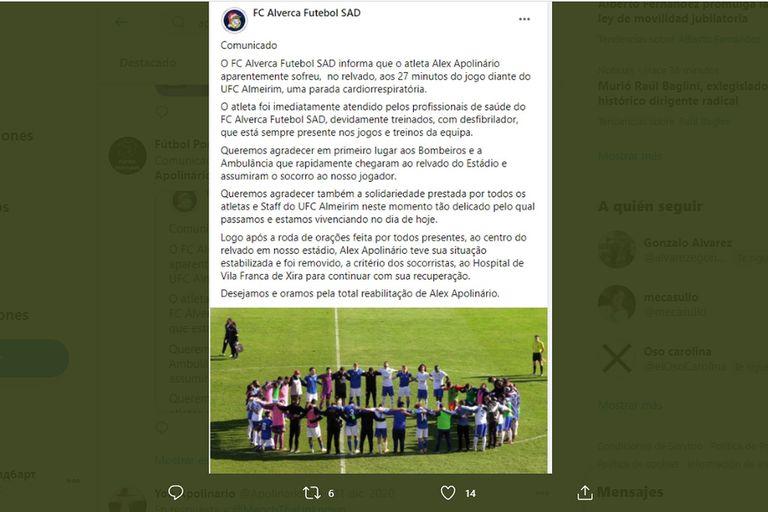 Conmoción en Portugal por un jugador que se desplomó en pleno partido