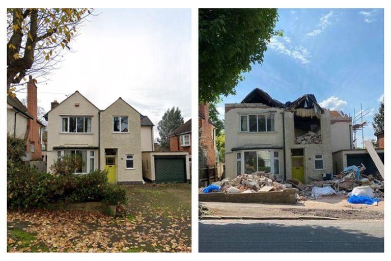 """El constructor decidió """"vengarse"""" por no recibir el pago acordado y le demolió parte de la casa"""
