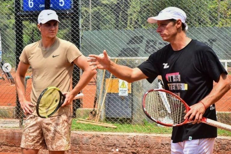 Nalbandian, junto al serbio Kecmanovic, al que entrenará en las próximas semanas