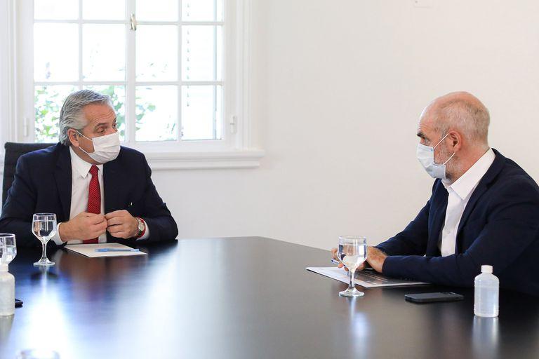 Alberto Fernández junto a Horacio Rodrígez Larreta