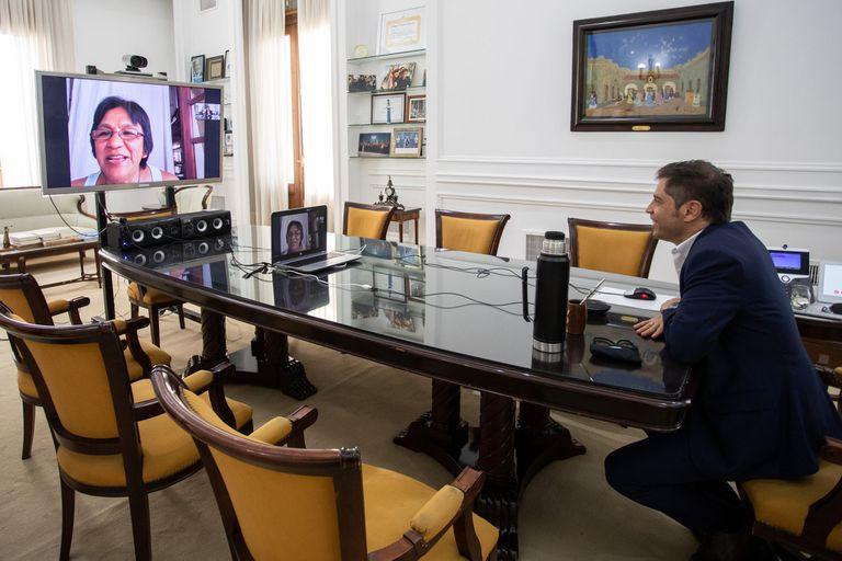 El año pasado, el gobernador bonaerense Áxel Kicillof habló por videoconferencia con Milagro Sala