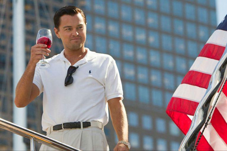 Leonardo DiCaprio, en El lobo de Wall Street, película de Martin Scorsese estrenada en 2014