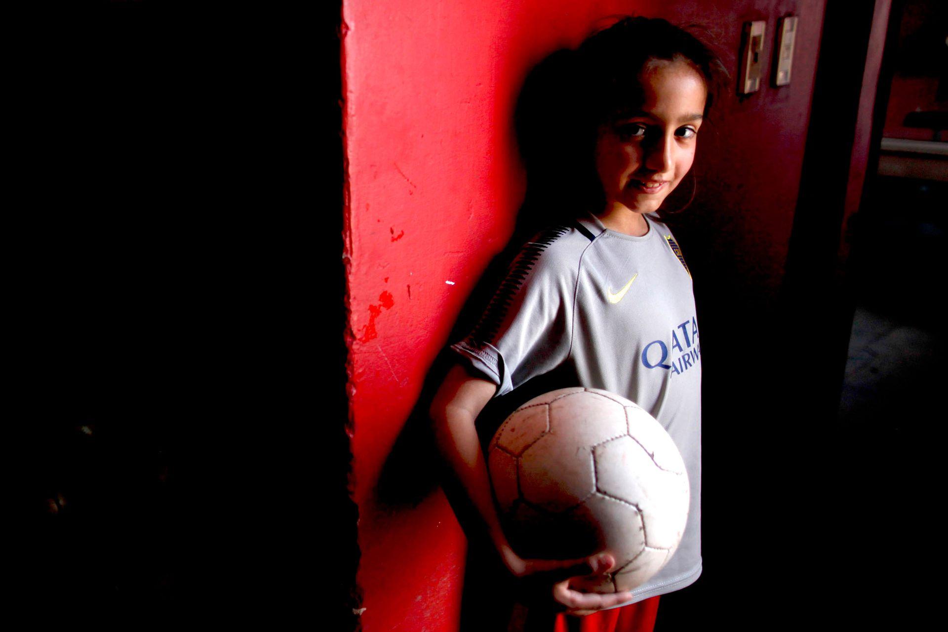 Candelaria Cabrera, de 7 años: empezó a jugar a los 3