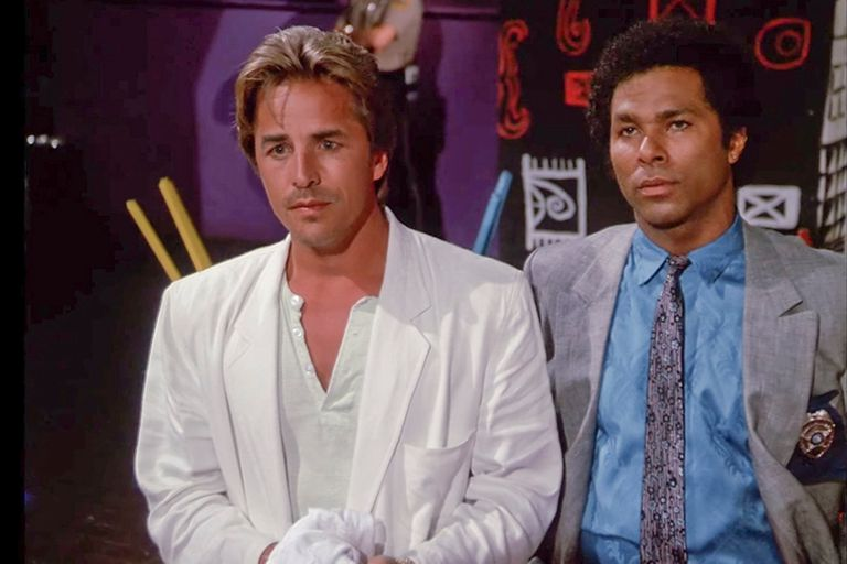 Don Johnson y Philip Michael Thomas en División Miami