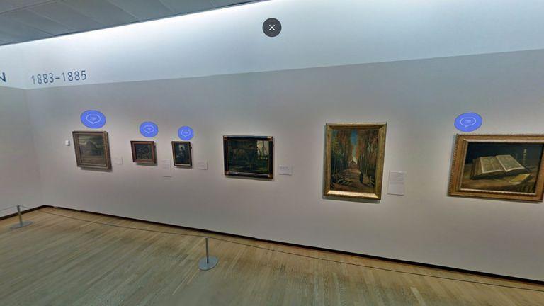 En el recorrido virtual hay unas 200 pinturas, 400 dibujos y la mayoría de las cartas escritas por el artista