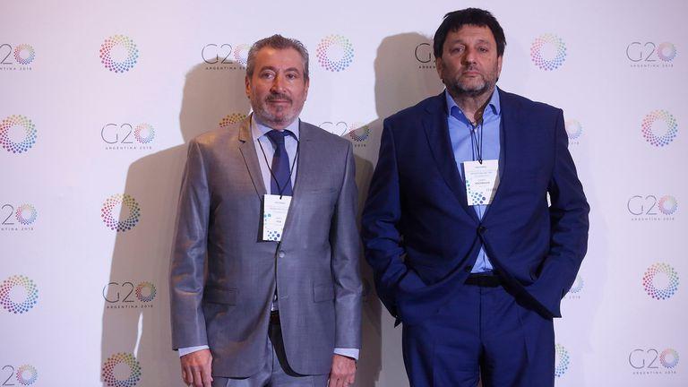 Los empresarios Daniel Vila y Gabriel Hochbaum