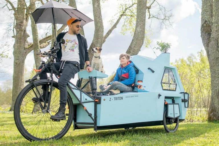 Sus creadores esperan que este versátil vehículo eléctrico sirva como medio de transporte (y alojamiento) para visitar reservas naturales y parques nacionales