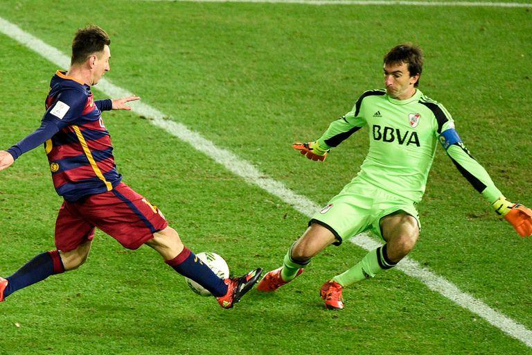 Messi le regaló los botines para su hijo en el Mundial de Clubes 2015