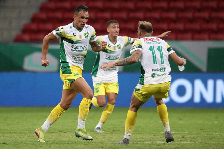Benítez celebra un gol fundamental: en el tiempo de descuento anotó el 2-1 para ir al suplementario, cuando Palmeiras ya preparaba el festejo