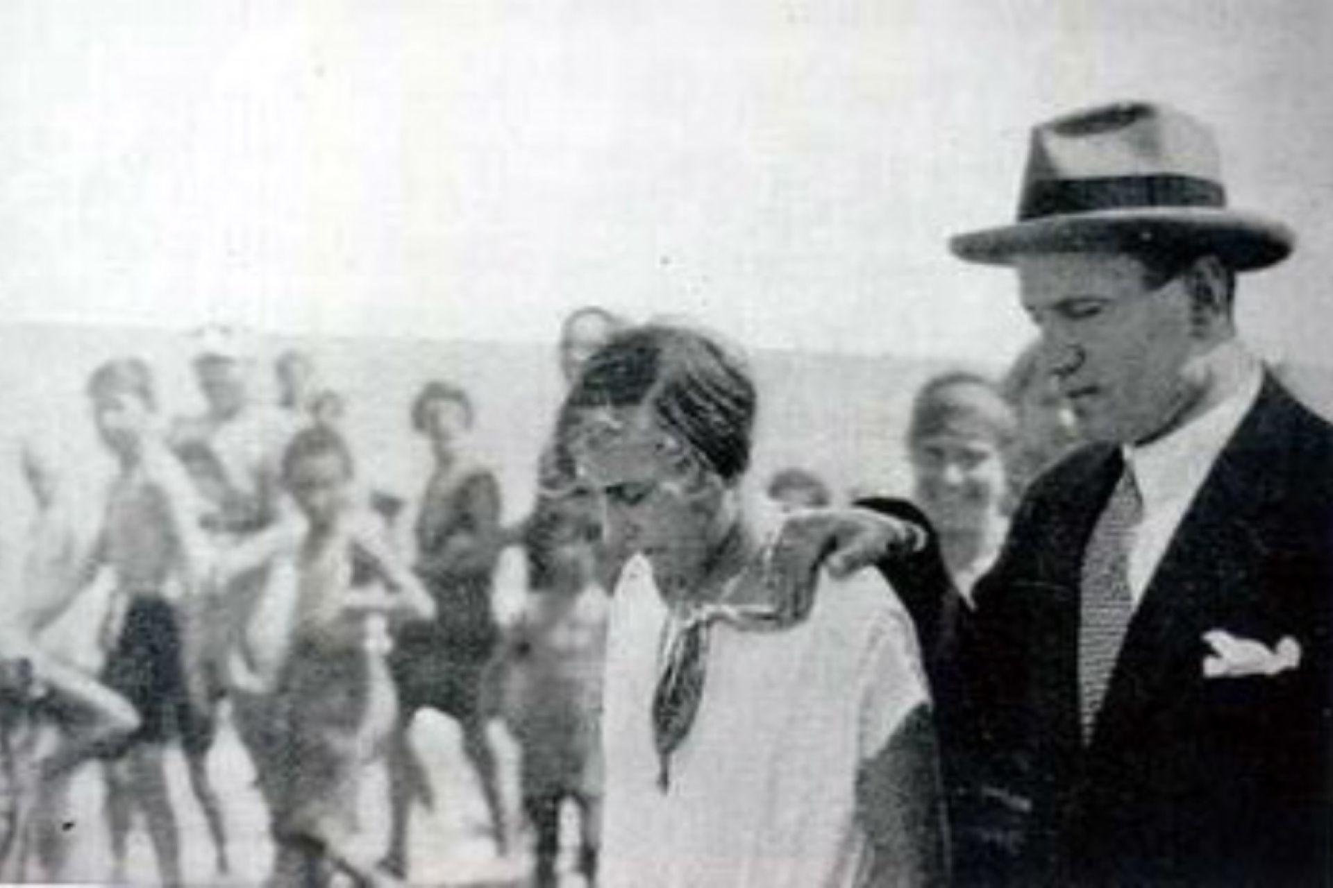 Benito Mussolini y su hija Edda