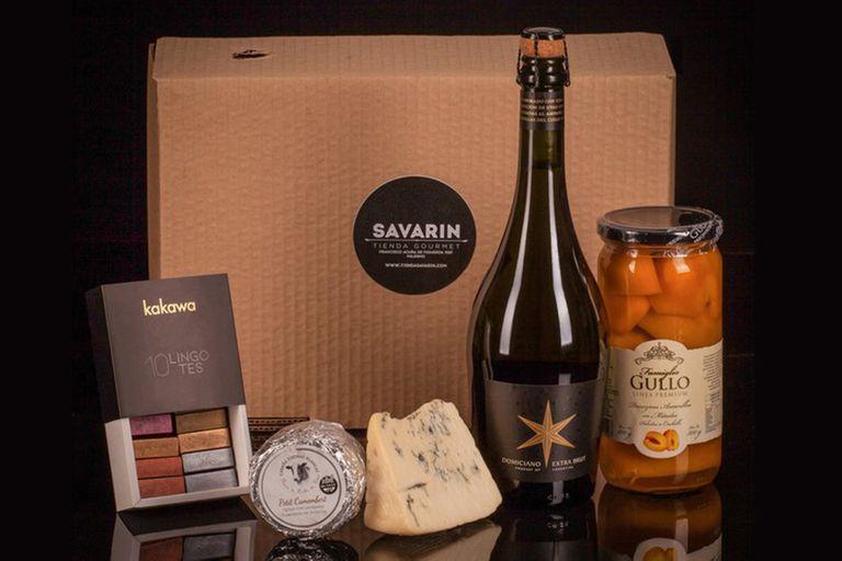 Las cajas gourmet de Savarin son curadas con gracia y buen paladar