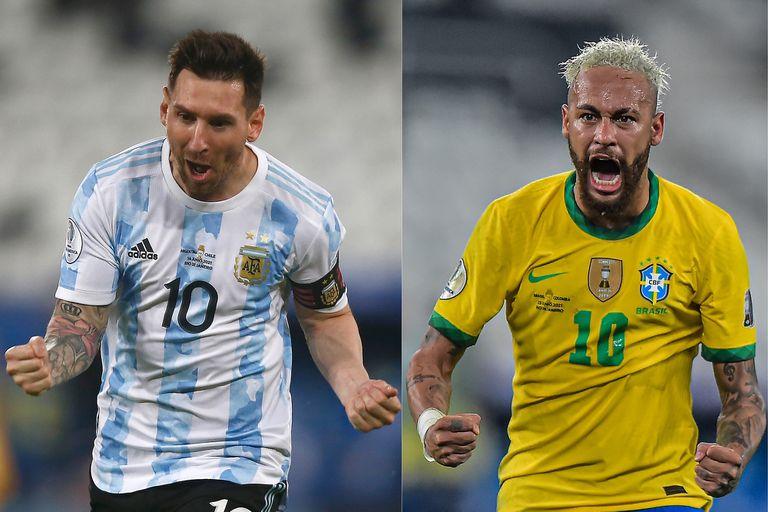 Lionel Messi y Neymar, las figuras de los seleccionados que disputarán la final de la Copa América en el Maracaná el próximo sábado