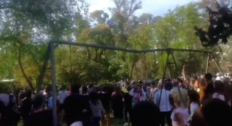 Batalla campal en una parrilla donde se celebraba el Día de la Madre