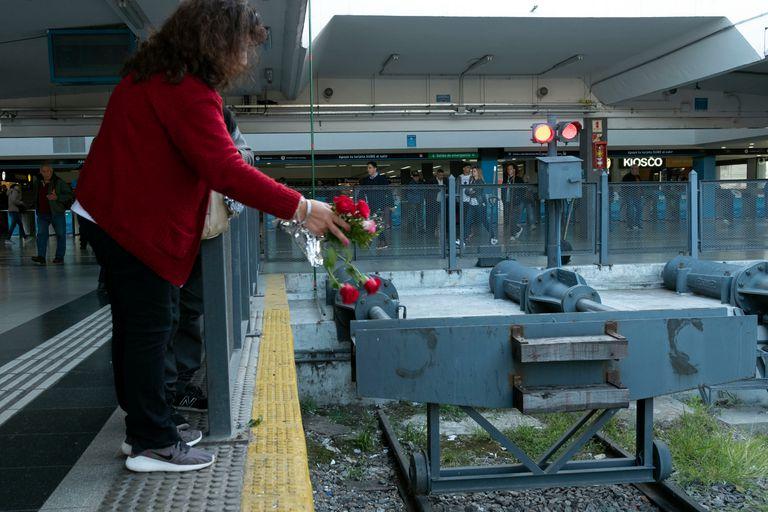 Familiares de las víctimas del siniestro ferroviario realizan un acto