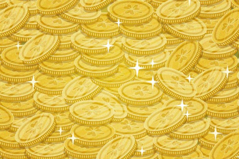 El desafío visual consiste en encontrar cuatro herraduras en medio de las monedas de oro