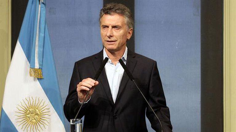 El presidente, Mauricio Macri