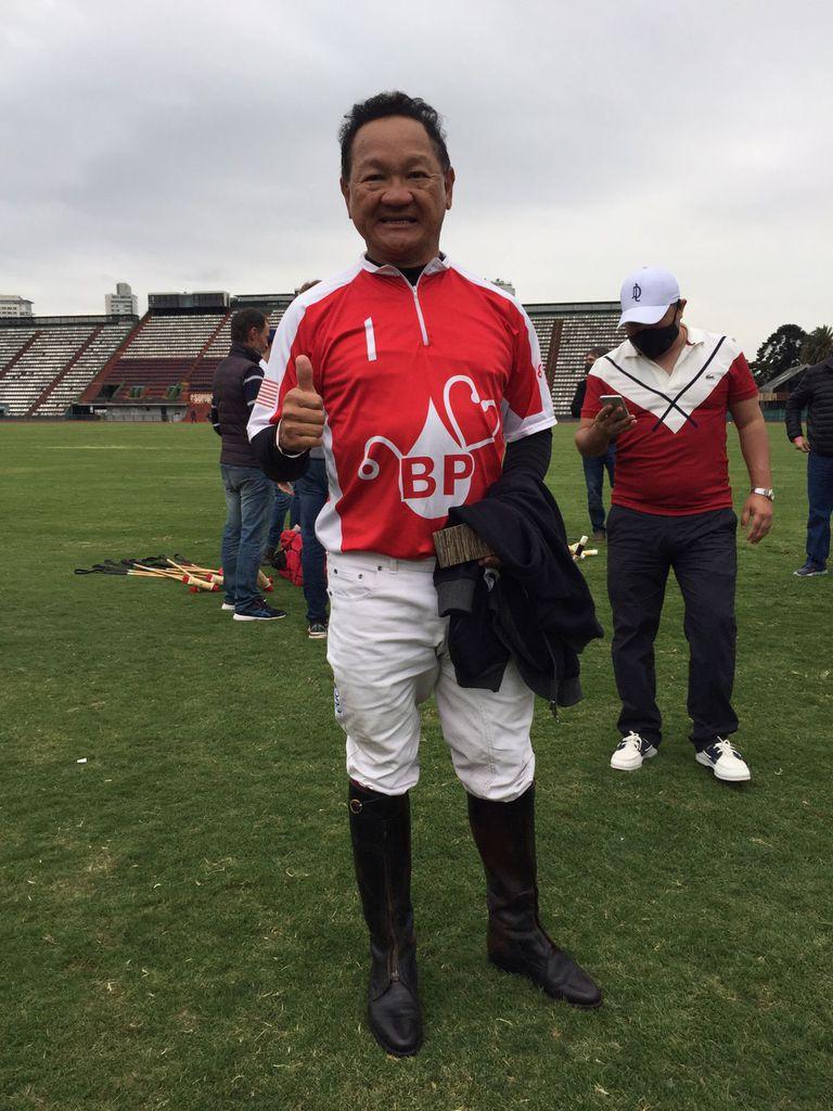 Chun Chuan Beh, el patrón malayo de Adolfito Cambiaso a pura felicidad tras jugar por primera vez en Palermo