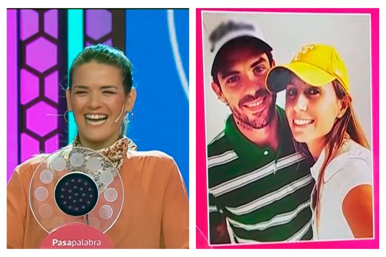 Una fotografía en el videowall de Pasapalabra con la imagen de Fernando Gago y Gisela Dulko hizo que Micaela Vázquez protagonizara un momento entre tenso y desopilante