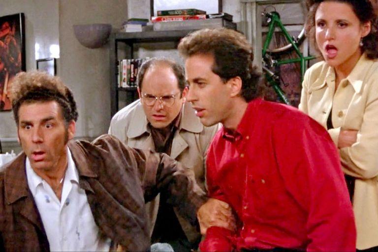 El cuarteto principal: Kramer, George, Jerry y Elaine.