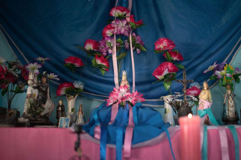 Uno de los altares de las 40 capillas de Concepción del Yaguareté