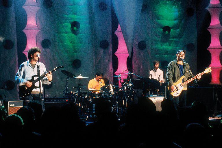 Soda Stereo en los estudios de MTV, marzo de 1996