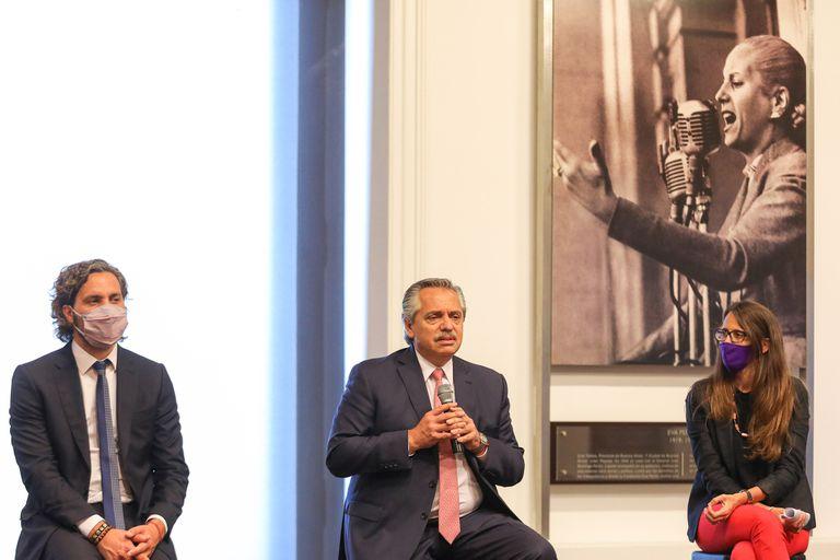 El Presidente compartió actos durante la semana en Casa Rosada con algunos de sus ministros