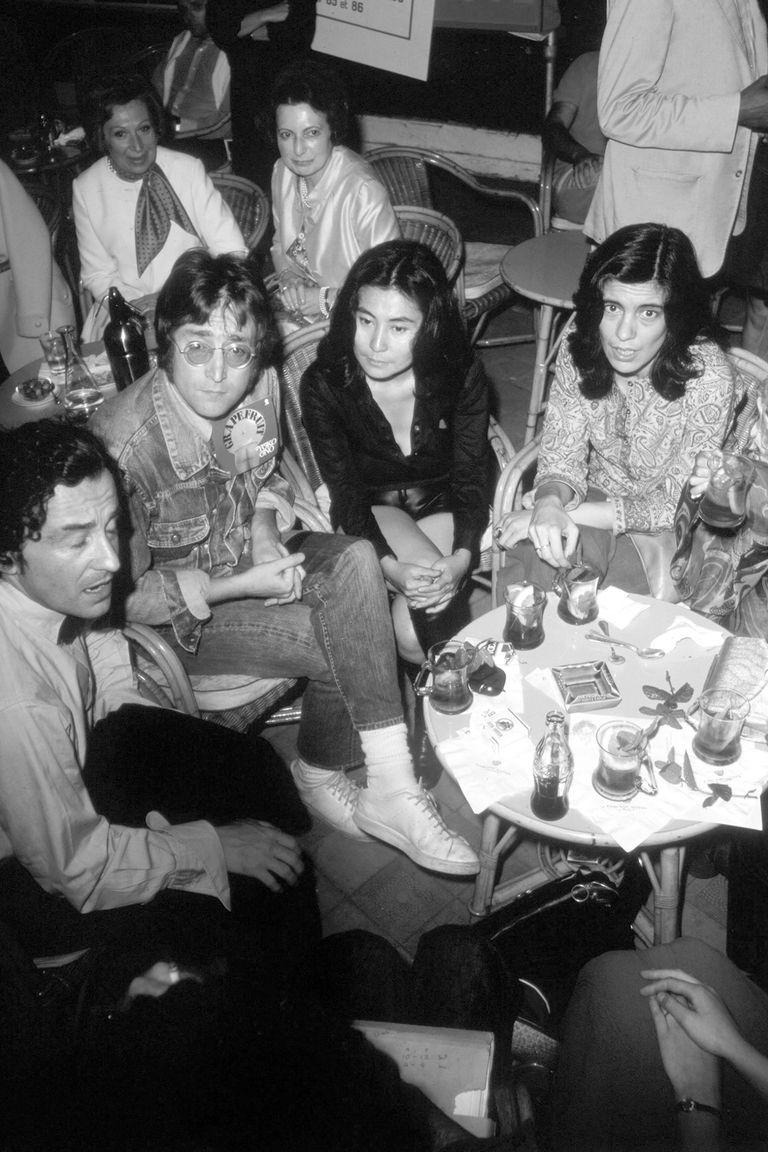 Con Louis Malle, John Lennon, Yoko Ono y Jeanne Moreau, en el Festival de Cannes Festival, en 1971