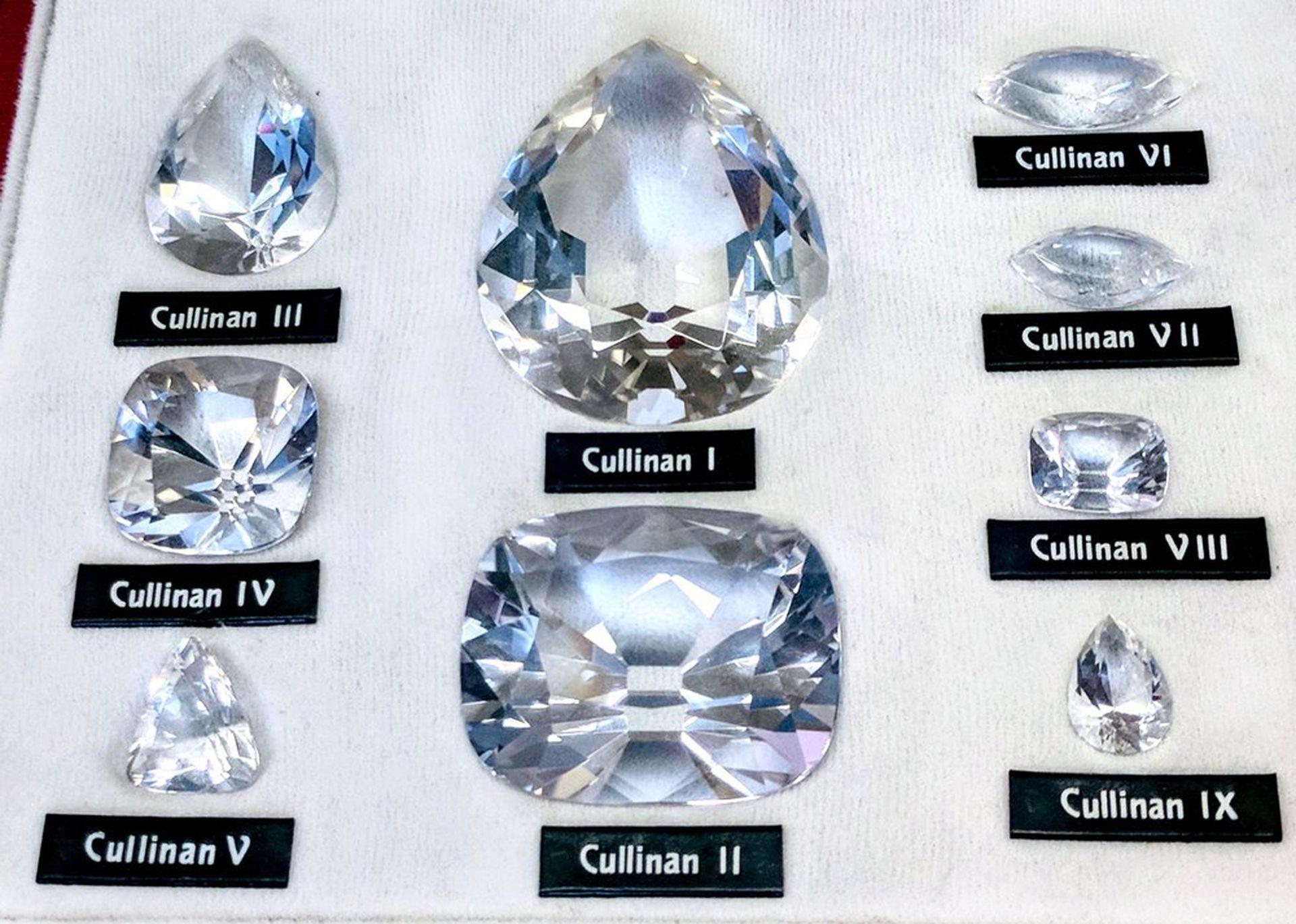Réplica de las gemas que surgieron de la división del Cullinan.