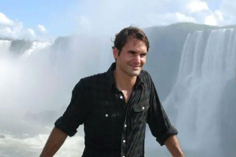 Federer tuvo una agenda muy cargada durante su visita a la Argentina, en 2012: entre otras acciones, visitó las Cataratas del Iguazú
