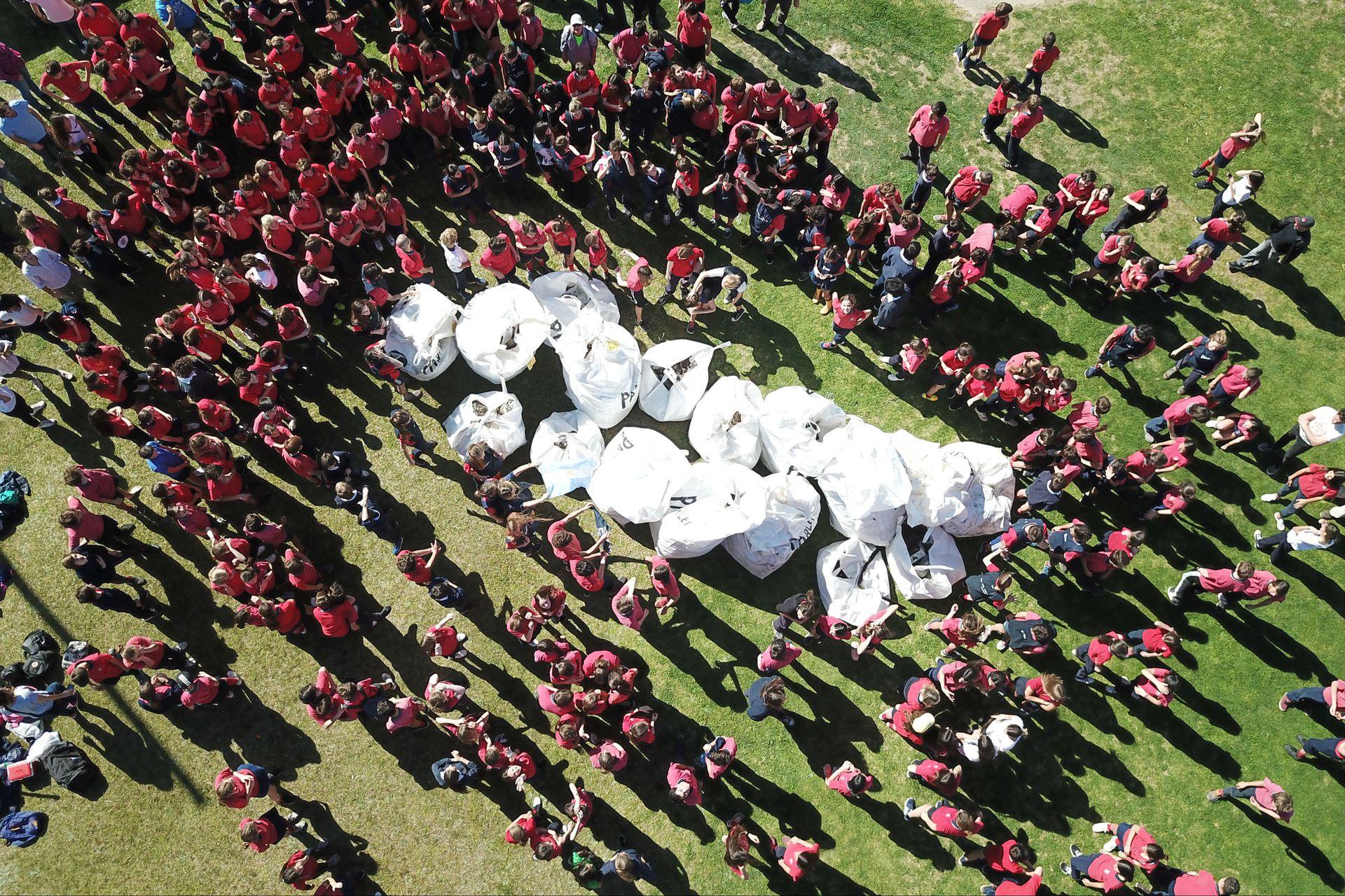 Los chicos del Labardén levantaron 1500 kilos de basura