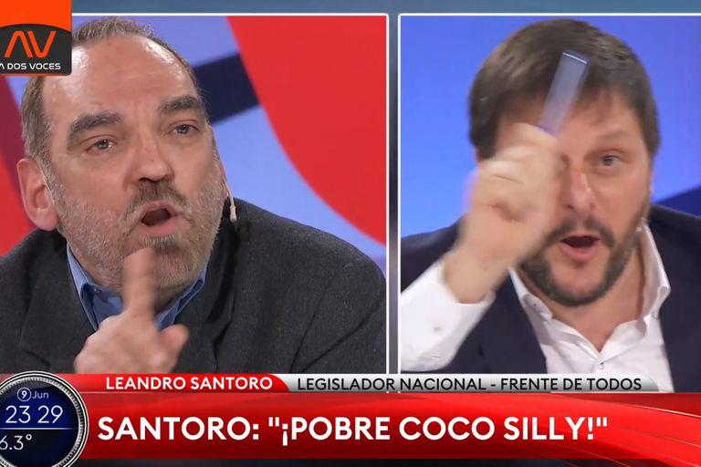 Tenso cruce entre Fernando Iglesias y Leandro Santoro