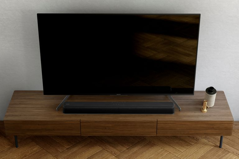 Barra de sonido HT-X8500 de Sony, con un diseño compacto que ocupa poco espacio