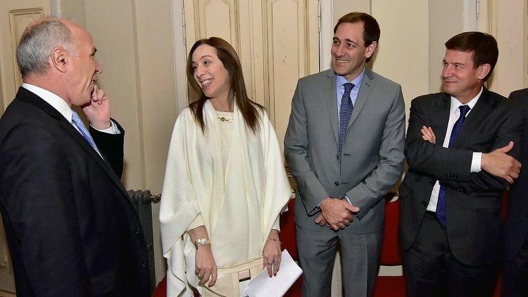 Lorenzetti, Vidal, el intendente Garro y el juez Ercolini, quien el lunes indagará a Cristina Kirchner