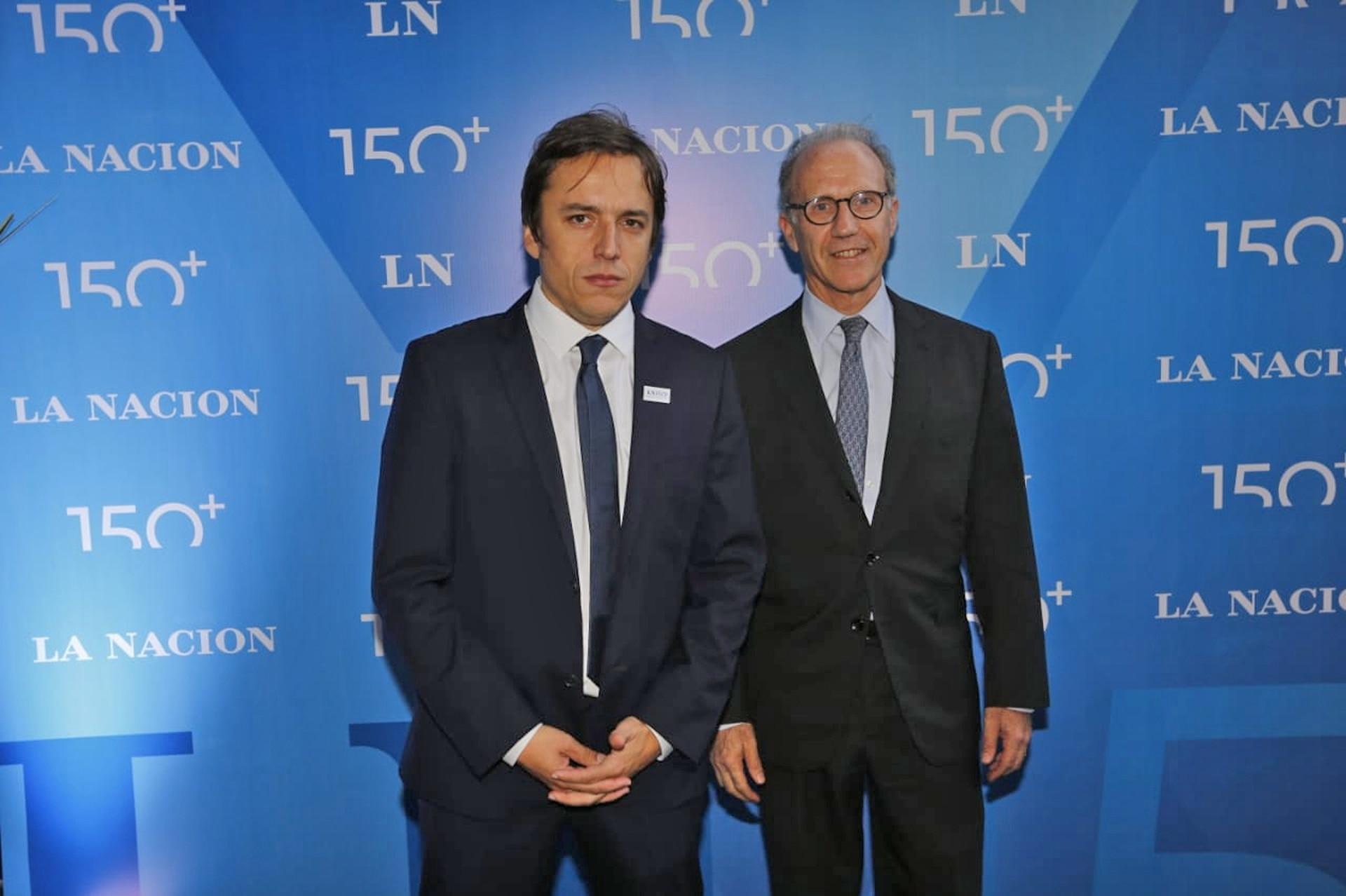 Carlos Rosenkrantz, presidente de la Corte Suprema de Justicia, junto a José del Río, Secretario General de Redacción de LA NACION