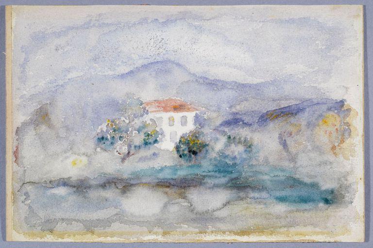 """""""Maison à Cagnes"""". Auguste Renoir. 1910. Petit Palais, musée des Beaux-arts de la Ville de Paris. Imagen descargada del sitio web de Paris Musées (http://www.parismusees.paris.fr/) que cuenta con más de cien mil obras libres de derecho de acceso gratuito)."""