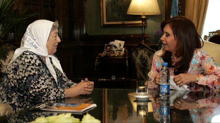 Hebe de Bonafini y Cristina Kirchner