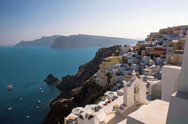 Atardecer en Oia, Santorini, uno de los más espectaculares del mundo.