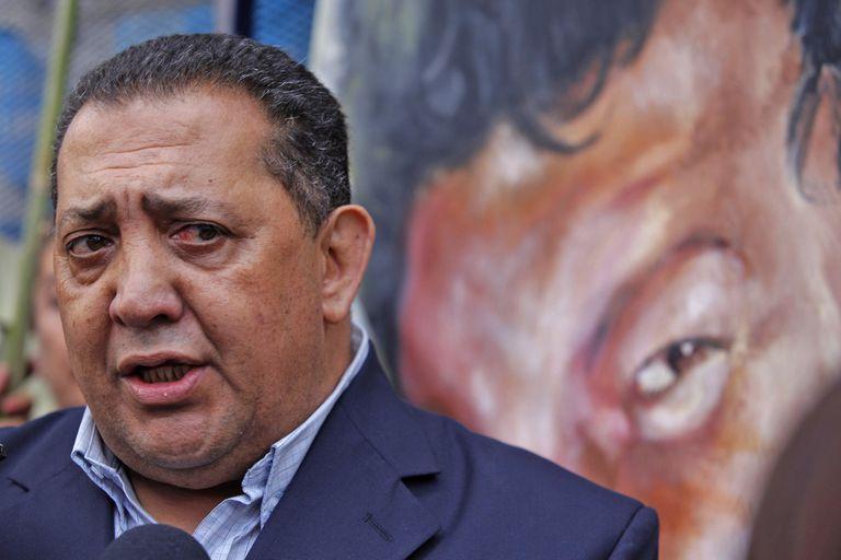 El piquetero participó de una protesta en la embajada de Venezuela en Buenos Aires