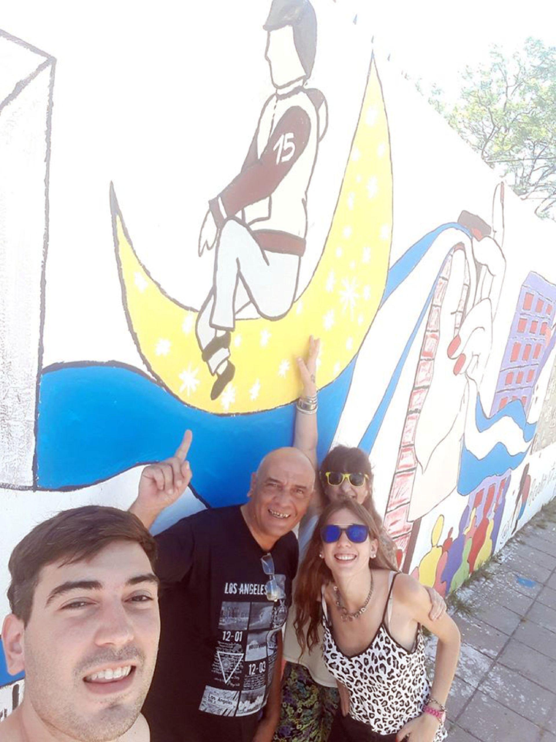 Un mural en honor a Patricio.