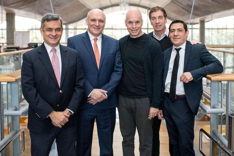 José Luis Espert con Horacio Rodríguez Larreta en el 2019 cuando apoyó su candidatura a Jefe de Gobierno