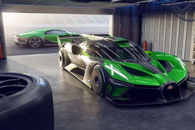 Bugatti Bolide. Con el trabajo realizado en chasis y carrocería se logró una relación peso/potencia de 0,9kg/CV